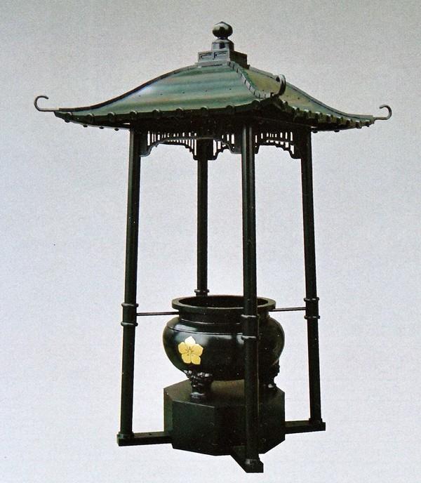 屋根付香炉 4尺 末広/高岡銅器の神仏具 送料無料