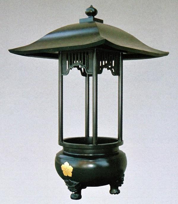 屋根付香炉 2尺5寸 直接柱/高岡銅器の神仏具 送料無料