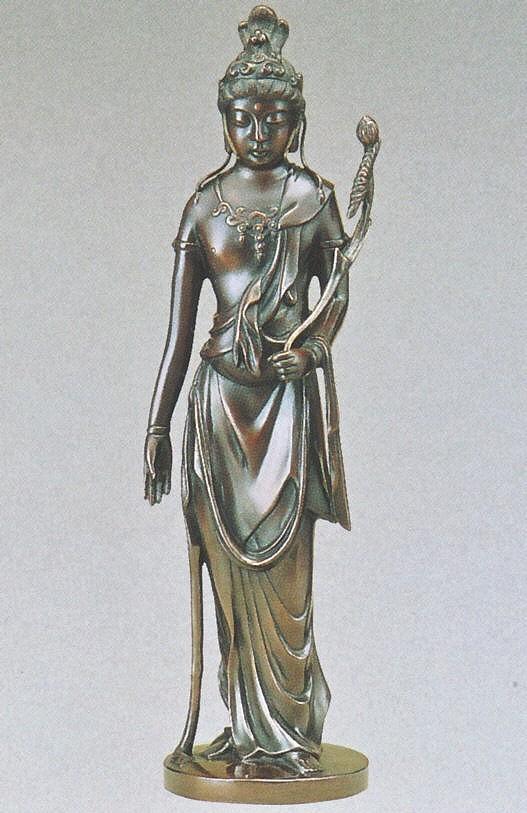 仏像/聖観世音菩薩 13号 高岡銅器の神仏具/送料無料