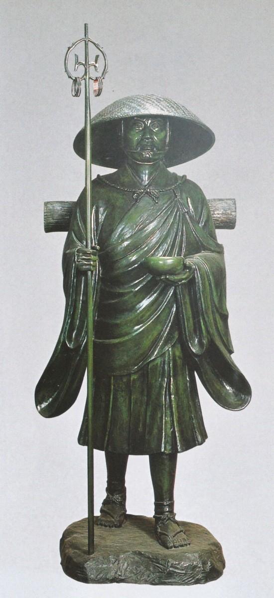 弘法大師像 50号 般若純一郎作品 高岡銅器の神仏具/弘法大師像
