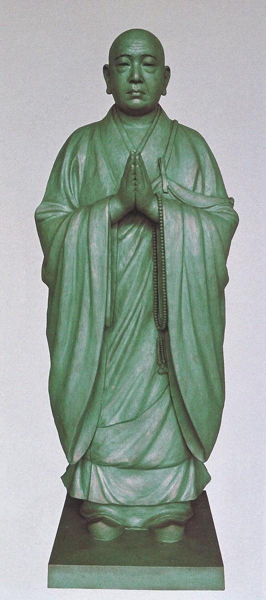 法然上人像/銅像 熊谷友児作品 高岡銅器の神仏具/法然上人像