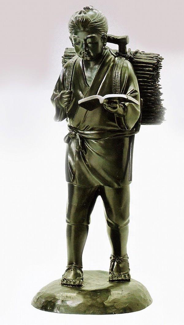 二宮尊徳像 大型ブロンズ像/二宮尊徳像 27号 高岡銅器通販/送料無料