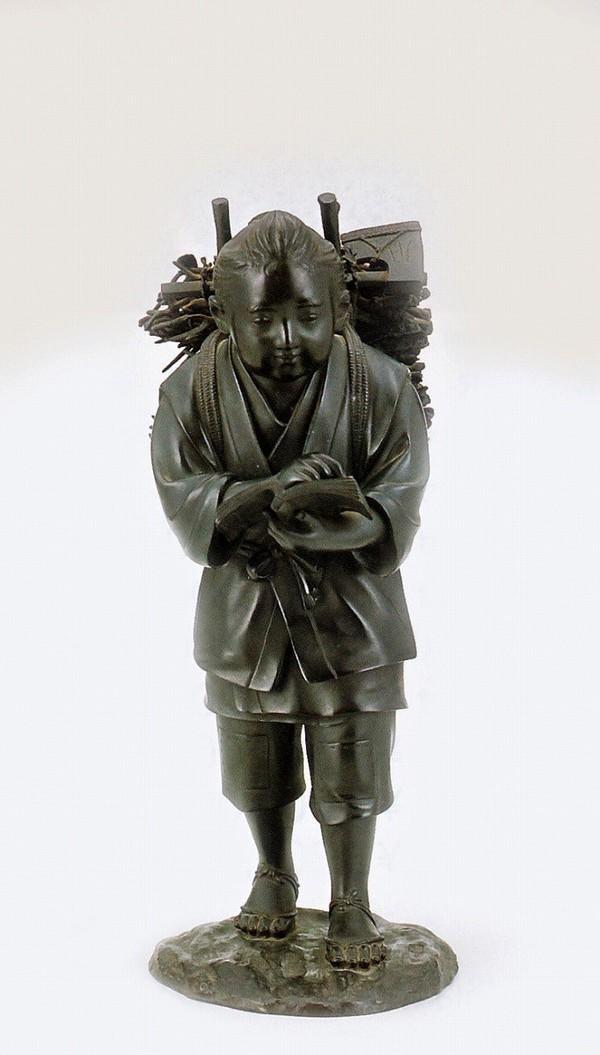 二宮尊徳像 大型ブロンズ像/二宮尊徳像 12号 高岡銅器販売/送料無料