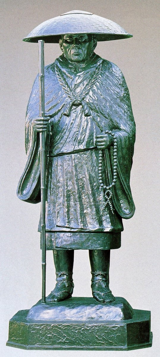 親鸞聖人像 75号銅像/仏像 親鸞聖人像 高岡銅器の神仏具