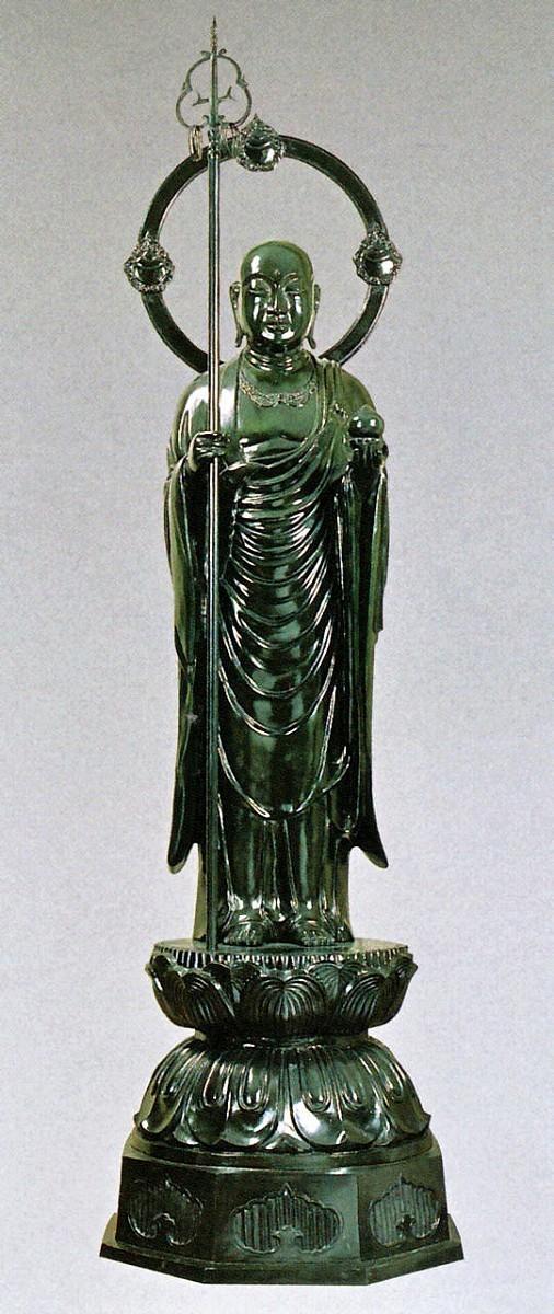 地蔵菩薩の仏像 50号 般若純一郎作品 高岡銅器の神仏具/お地蔵様