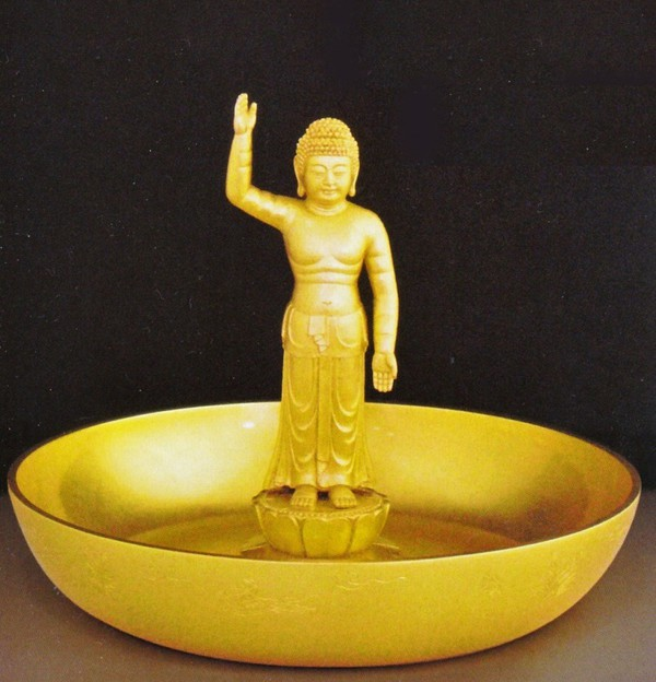 お釈迦様 仏像通販 誕生仏 金箔仕上げのお釈迦様 石川惠観原型/桐箱付