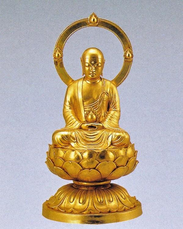 地蔵菩薩の仏像/金箔仕上げ 十三仏 高岡銅器の仏像/長田晴山作品