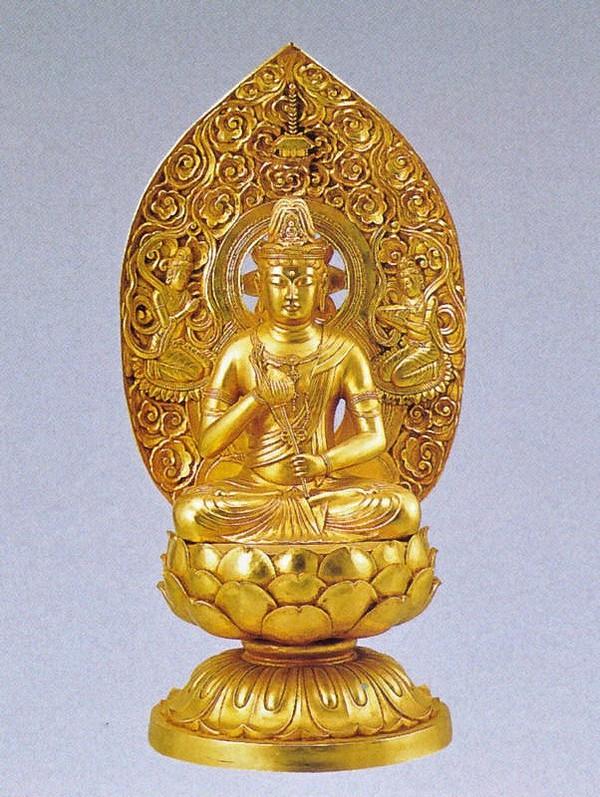 観世音菩薩の仏像/金箔仕上げ 十三仏 高岡銅器の仏像/観世音菩薩