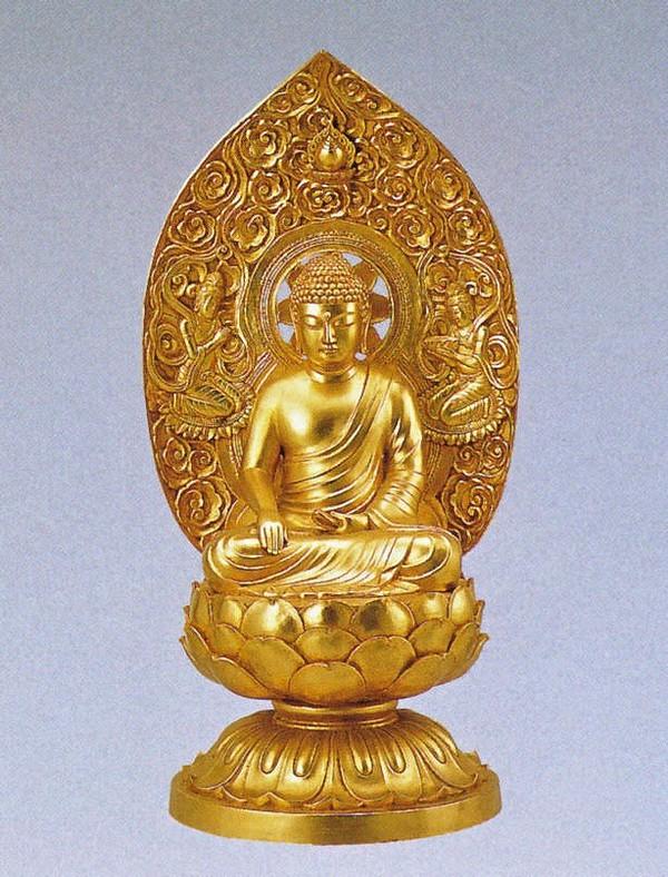 阿閃如来の仏像/金箔仕上げ 十三仏 高岡銅器の仏像/阿閃如来