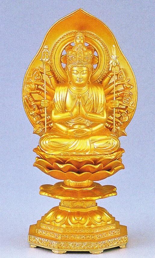 千手観音菩薩/子年生まれの守り本尊 高岡銅器の仏像/千手観音菩薩