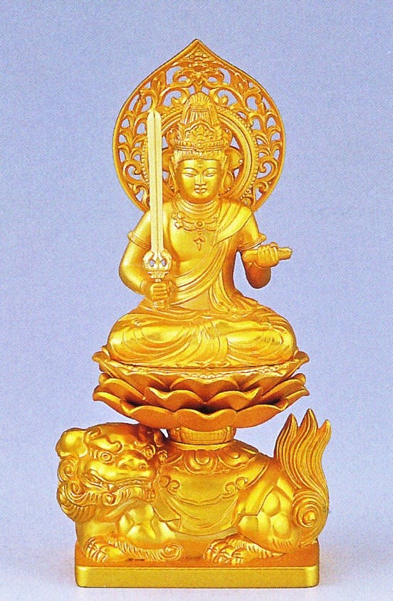 文殊菩薩/卯年生まれの守り本尊 高岡銅器の仏像/文殊菩薩