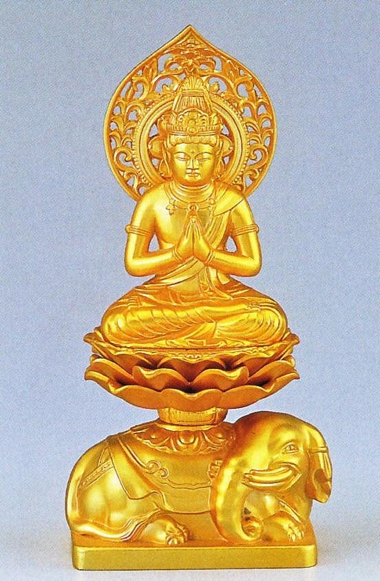 普賢菩薩/辰・巳年生まれの守り本尊 高岡銅器の仏像/普賢菩薩