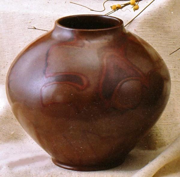 吉野竹治作品 銅製花瓶/寿形 8.5号 吉野竹治作品/高岡銅器通販