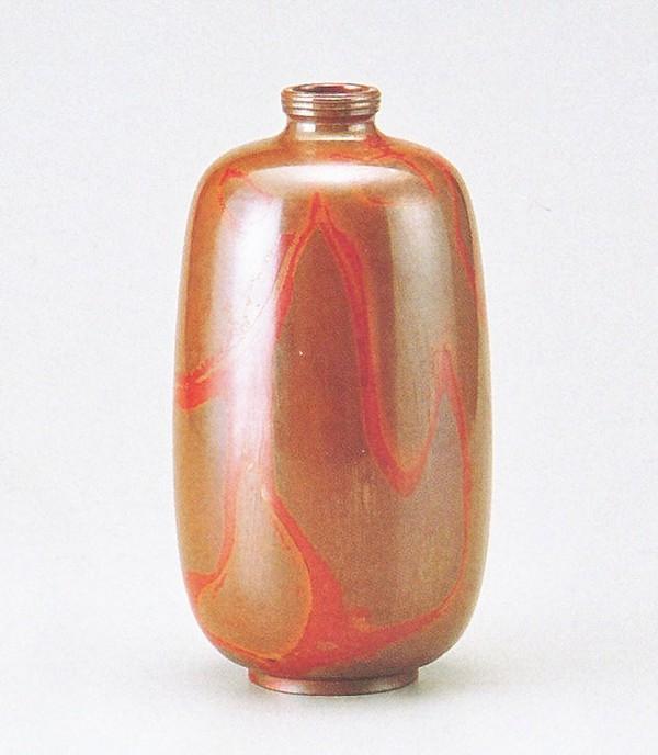 高岡銅器の銅製花瓶 まゆ形 即日出荷 品質保証 正晴作品 送料無料 桐箱付