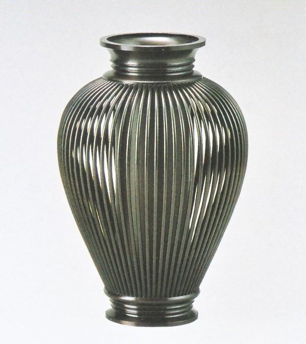 高岡銅器の花瓶/透し太夏目 化粧箱付 美術工芸通販/送料無料