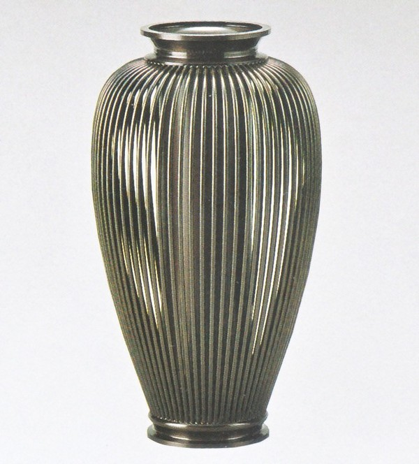 新作製品 予約 世界最高品質人気 高岡銅器の花瓶 透し夏目 化粧箱付 送料無料 美術工芸通販