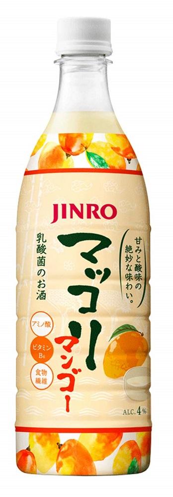 全品最安値に挑戦 人気のJINROマッコリからフレーバータイプが発売 JINRO マッコリマンゴー 750ml 高級品 12本