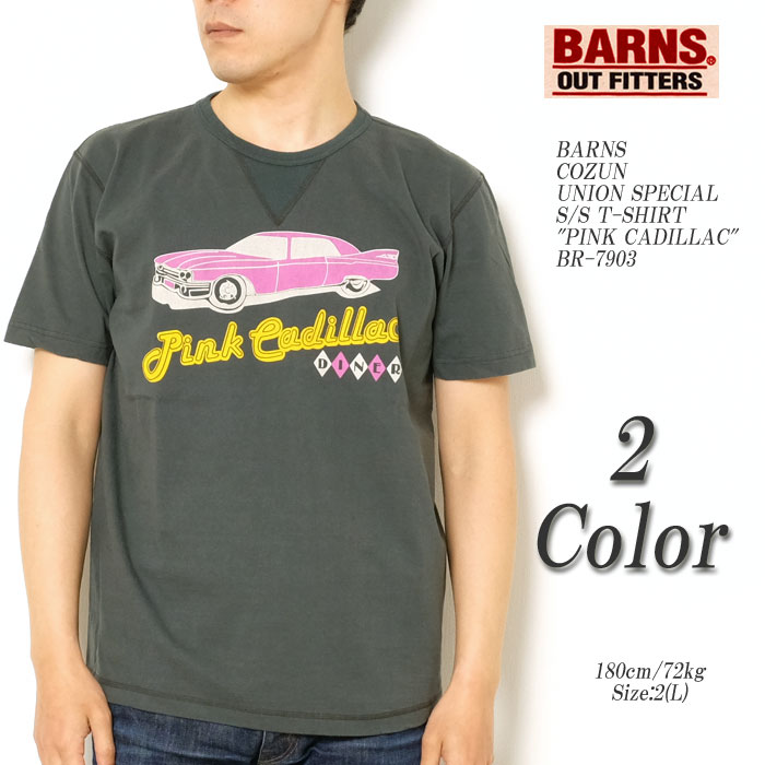 BARNS バーンズCOZUN UNION SPECIALS/S T-SHIRT