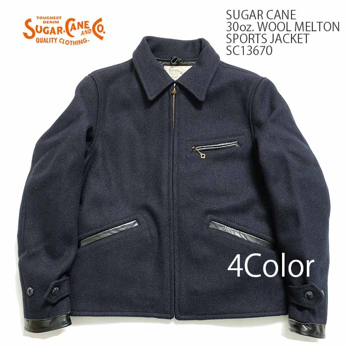 SUGAR CANE シュガーケーン 30oz. WOOL MELTON SPORTS JACKET SC13670 送料無料