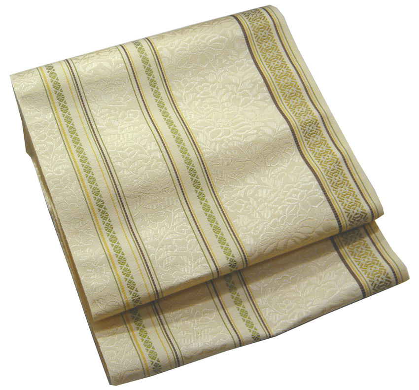 着物にも浴衣にもどうぞ 高級品 本筑博多帯 変り献上正絹八寸 仕立代サービス 森博多織謹製 金茶 マーケティング