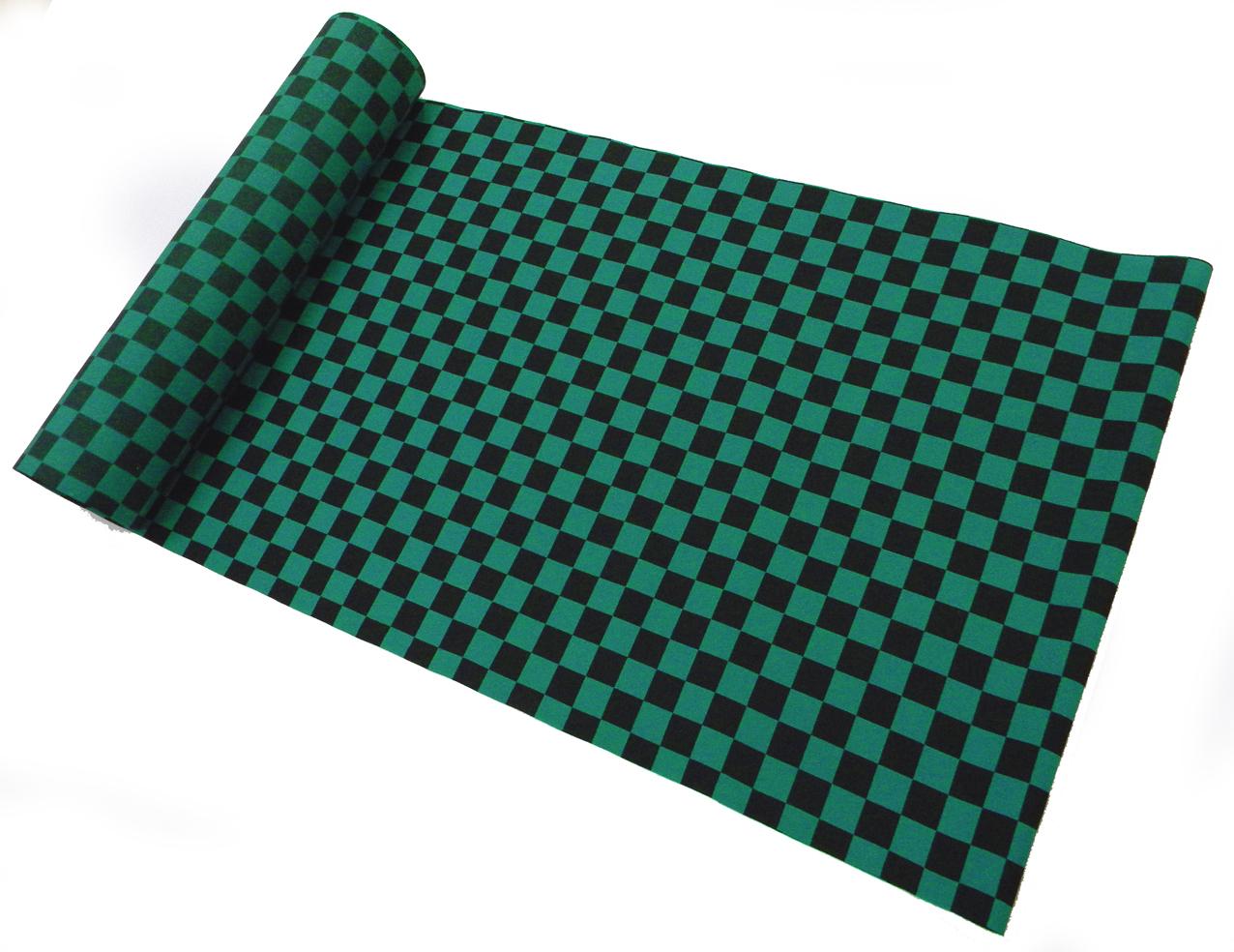 着物のはぎれ 超特価SALE開催 限定タイムセール 市松柄 緑 ポリエステル 鬼滅 反物切り売り 50cm単位 炭治郎
