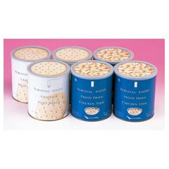 サバイバルフーズ・ツー&ハーフセット6缶(チキンシチュー3缶・クラッカー3缶)約15食分、賞味期限25年 B-2011