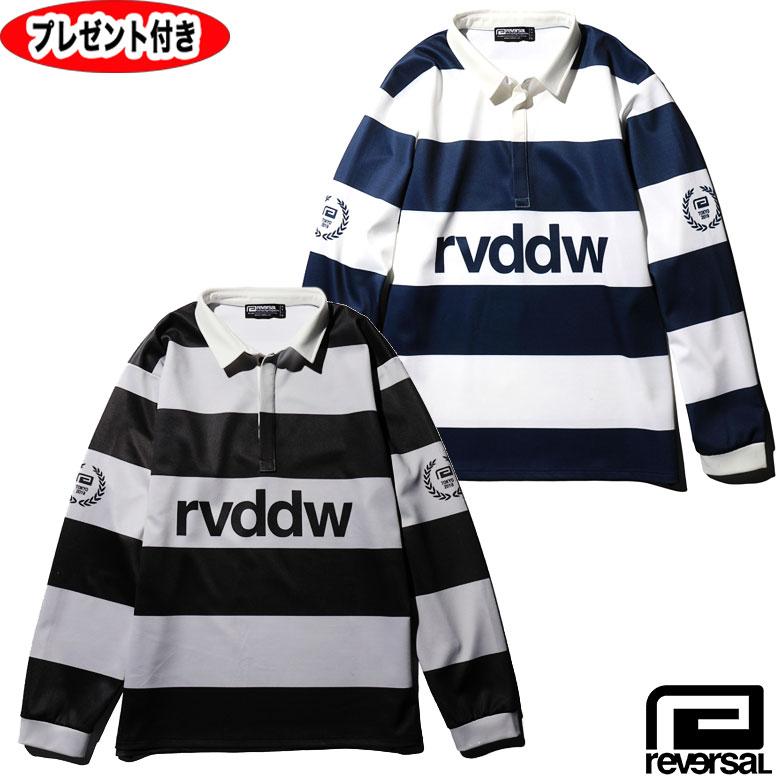 リバーサル ラガーシャツ DRY RUGGER SHIRTS  ポロシャツ reversal REVERSAL rvddw 半袖Tシャツ トップス メンズ 格闘技 プレゼント付 rv19ss023 ボーダー ドライ