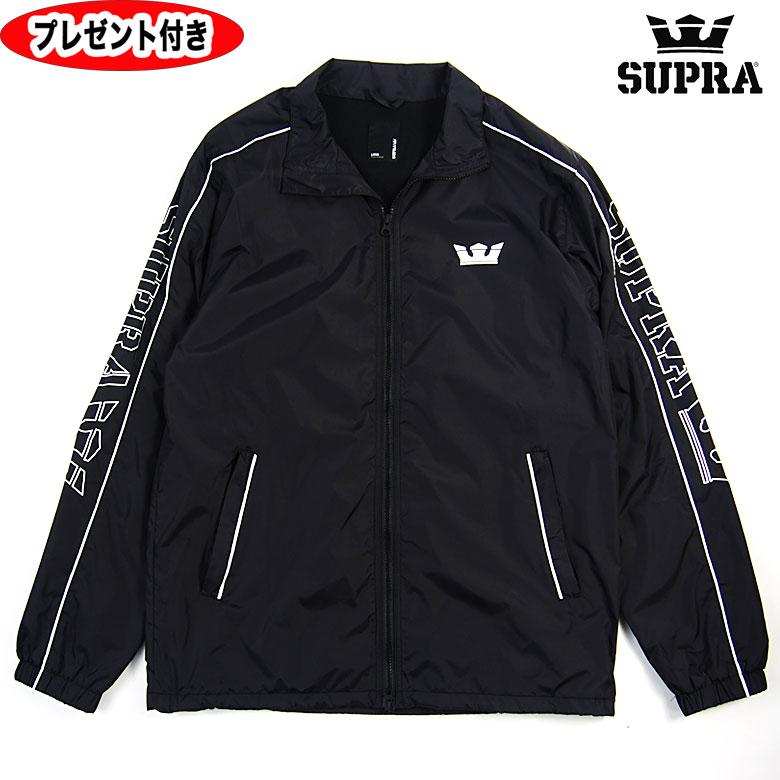 スープラ ジャケット WIRED JACKET SUPRA supra ナイロンジャケット 102082-008 ブラック BLACK スニーカー ファスナー ジッパー フード付き 黒 プリント シフティング JK
