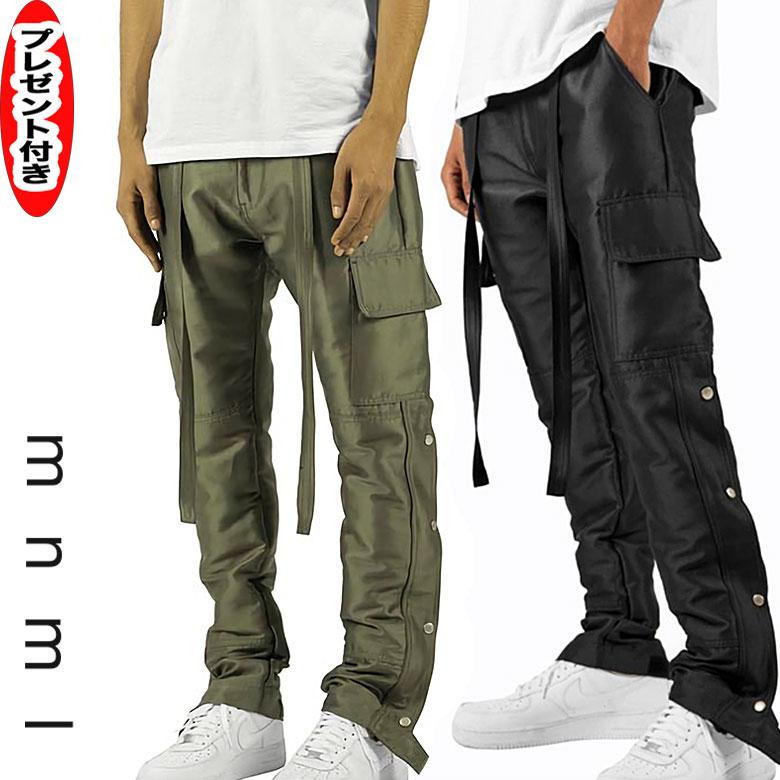 mnml ミニマル カーゴパンツ メンズ SNAP ZIPPER CARGO PANTS ブラック BLACK オリーブ OLIVE パンツ スキニー スリムフィット パンツ 裾ジップ スソZIP 送料無料 ストリート メンズ レディース ユニセックス プレゼント付