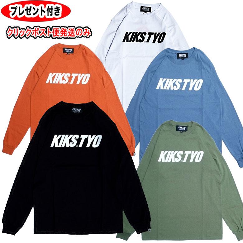KIKS TYO キックスティーワイオー KT1808T-01 LOGO L S TEE ロゴ ビッグサイズ オープニング 大放出セール ストリート 長袖Tシャツ 大きいサイズ 登場大人気アイテム ロング トップス ロンt メンズ