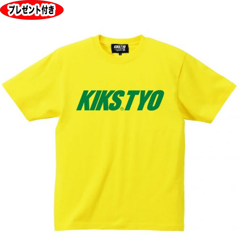 kiks tyo tシャツ KIKS TYO LOGO お買い得 完売 TEE クリックポスト便対応商品 yello イエロー 缶バッジ kikstyo ロゴt ステッカー