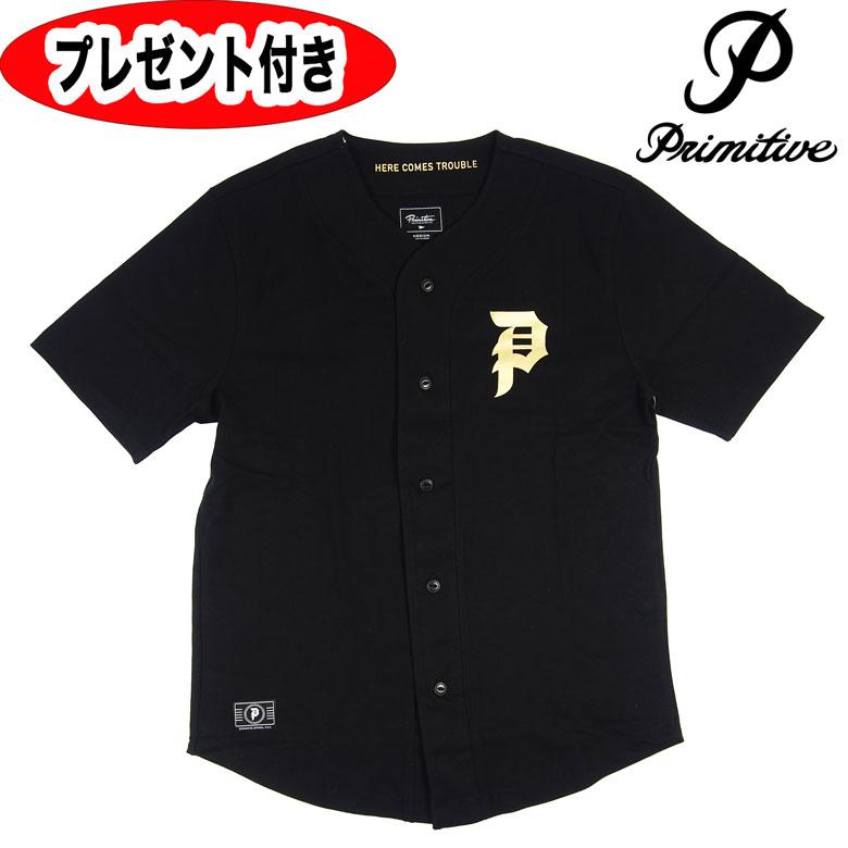 プリミティブ PRIMITIVE Tシャツ ベースボールシャツ スケートボード スケボー CHAMPS JERESEY メンズ アウター トップス スケート ストリート 送料無料 缶バッジプレゼント