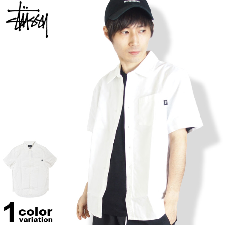 ステューシー STUSSY オックスフォード シャツ 半袖 メンズ Frank Oxford S/SL Shirt (stussy シャツ 半袖 トップス 111963 ストゥーシー スチューシー) 【あす楽対応】