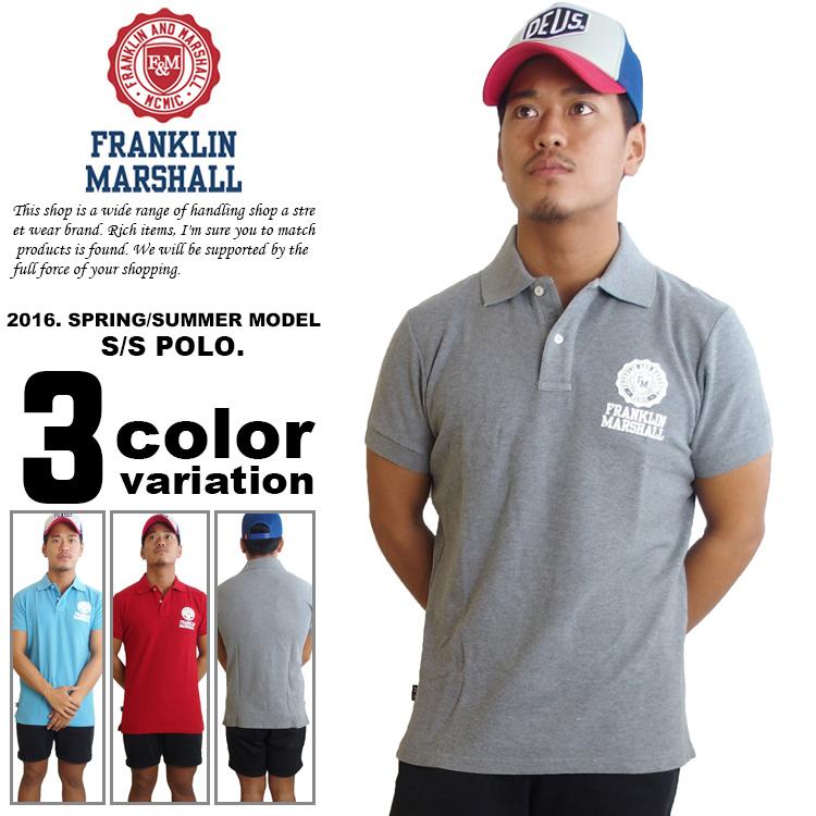 FRANKLIN & MARSHALL フランクリン マーシャル ポロシャツ 半袖 (3色) [POMCO33] 【Franklin&Marshal フランクリ マーシャル ポロシャツ メンズ 半袖】【あす楽対応】 【メール便対応】
