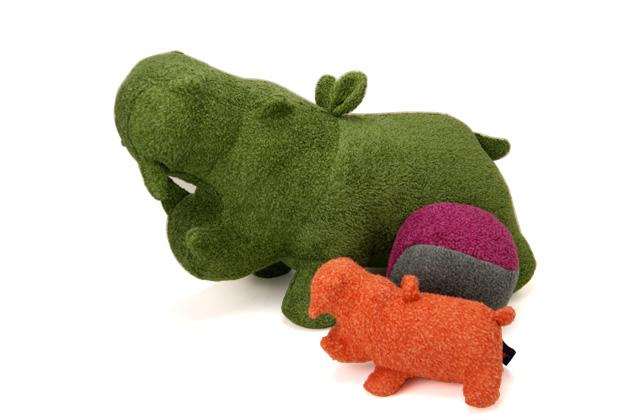 【送料無料】【受注生産】【Hippopotamus】 ヒポポタマス 出産祝いギフトセットビッグヒポポ1個 + ぬいぐるみ1個 + ボール(20cm)1個今治 オーガニック 日本製 プレゼント 高級