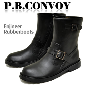 Men's Engineer Boots type rubber boots rain boots short full length waterproof shoes