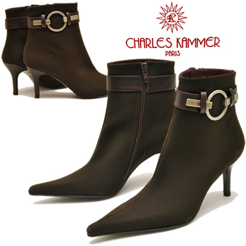 Fabric style short boots CHARLES KAMMER シャルルカ email ladies boots