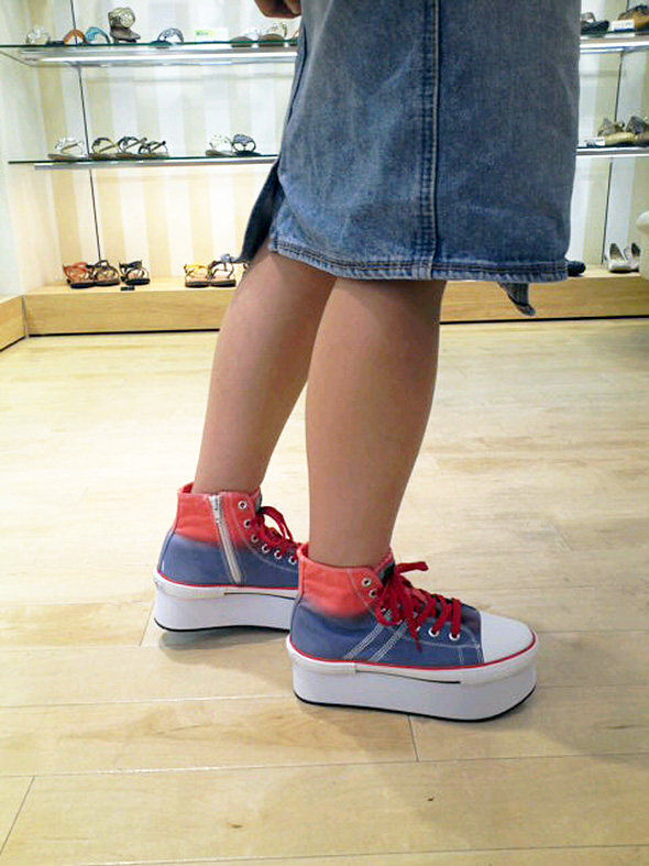 ★ arrived after the new special price! Thick bottom スニーカーリメイク version now available! Studded platform form sneakers thickness bottom sneakers Le thick bottom shoes YOSUKE U.S.A Yosuke shoe store ladies sneaker