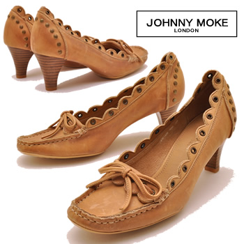 モカシンレディースヒールモカシン pumps JOHNNY MOKE Johnny make ladies pumps leather