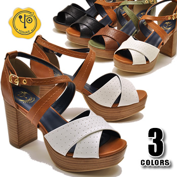 dbd421c33b3 Soled Sandals platform cross strap sandal YOSUKE U.S.A he will   (book) is  something 3 business days in shipping