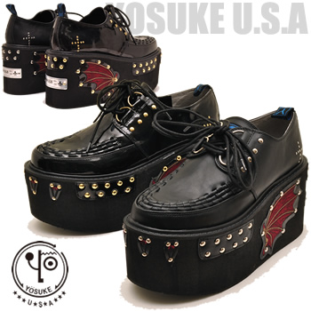 Rubber-soled shoes mens thick bottom YOSUKE U.S.A Yosuke punk rock cosplay    (reserved) term is 3 business days in shipping ddf2277e9