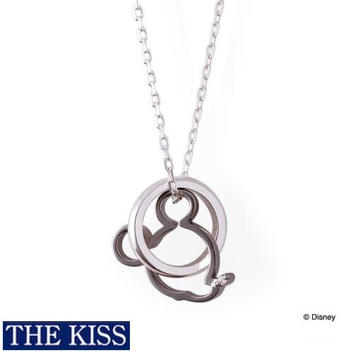 ディズニー ネックレス グッズ ミッキー ミッキーマウス フェイスダブルチャーム メンズ 単品 アクセサリー THE KISS ザキス ザキッス プレゼント 20代 30代 彼氏 男性 誕生日 記念日 DI-SN1203DM