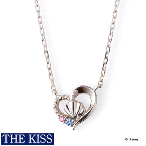 ディズニー プリンセス アリエル ネックレス Disney THE KISS ザキッス ザキス シルバー ネックレス グッズ レディース 20代 30代 彼女 人気 ブランド 誕生日 記念日 DI-SN1815CB