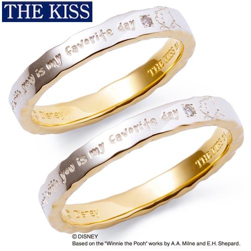 ディズニー プーさん ペアリング ペア指輪 くまのプーさん グッズ メンズ レディース ペアアクセサリー THE KISS ザキス ザキッス プレゼント 20代 30代 彼氏 彼女 誕生日 記念日 SR6020DM-P