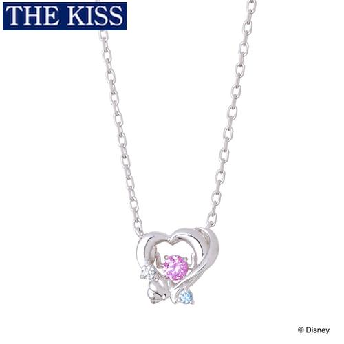 ディズニー プリンセス アリエル ネックレス Disney THE KISS ザキッス ザキス シルバー ネックレス グッズ レディース 20代 30代 彼女 人気 ブランド 誕生日 記念日 DI-SN1401CB