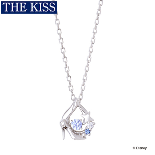 シンデレラ ネックレス ガラスの靴 ディズニー プリンセス アクセサリー Disney THE KISS ザキス ザキッス プレゼント 20代 30代 彼女 誕生日 記念日 DI-SN1400CB