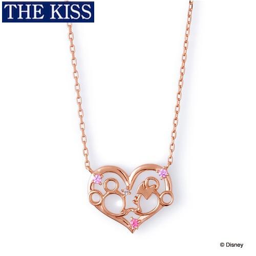 ディズニー ネックレス グッズ ミッキー&ミニー フェイス レディース アクセサリー THE KISS ザキス ザキッス プレゼント 20代 30代 彼女 女性 誕生日 記念日 DI-SN1201DM