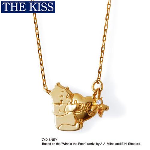 ディズニー プーさん くまのプーさん ネックレス ハート グッズ レディース アクセサリー THE KISS ザキス ザキッス プレゼント 20代 30代 彼女 女性 誕生日 記念日 DI-SN6004DM