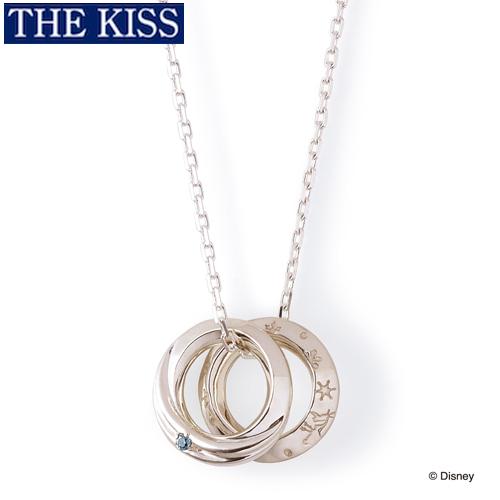 ディズニーアナ雪 ネックレス ディズニープリンセス アナと雪の女王 ペアグッズ ペアアクセサリー Disney THE KISS ザキス ザキッス プレゼント 誕生日 記念日 DI-SN1701BDM