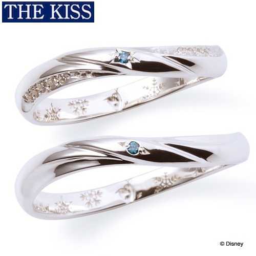 ディズニーペアリング 指輪 ペアグッズ アナ雪 アナと雪の女王 ペアアクセサリー THE KISS ザキス ザキッス プレゼント 20代 30代 誕生日 記念日 DI-SR6014BDM-6015BDM